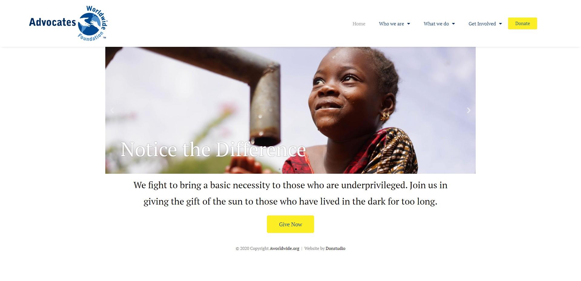 Africa non profit organization advocateww.org