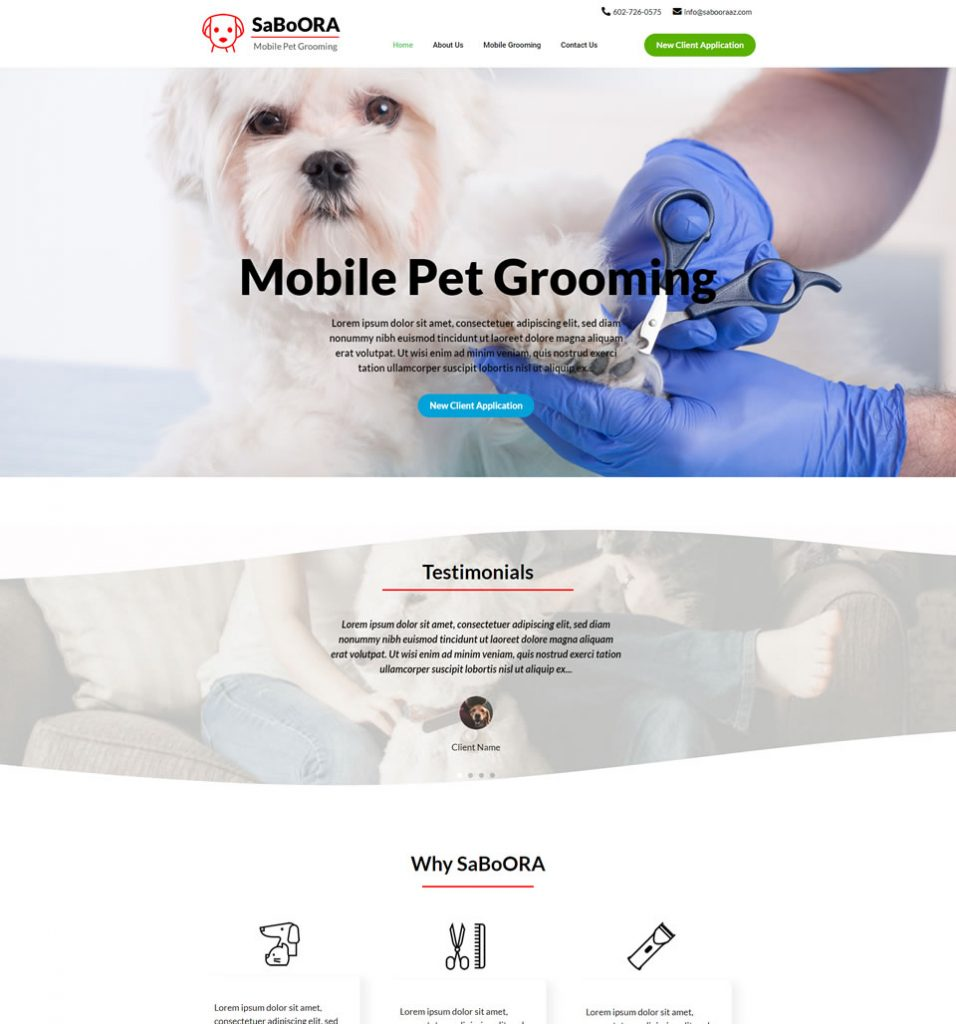 dog grooming site 1