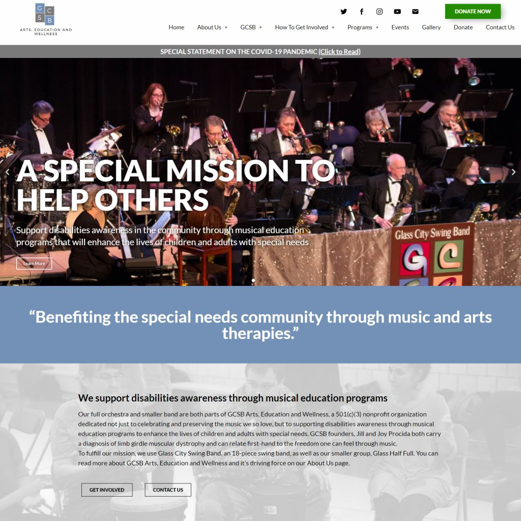 Completed gcsbarts.org Music Non Profit Organization