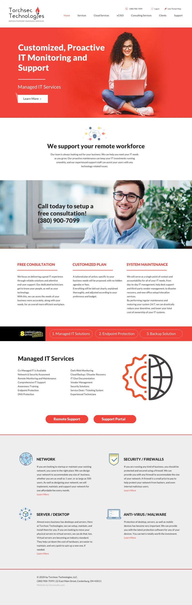 torch website redesign