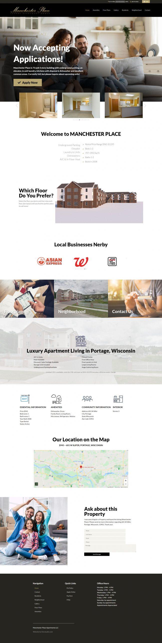 Apartment Building Website Creation